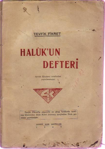 Tevfik Fikret Haluk'un Defteri