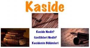 Kaside, Kaside nedir, Kasidenin bölümleri, Kasidenin özellikleri, Konularına göre kasideler, Kaside hakkında bilgi