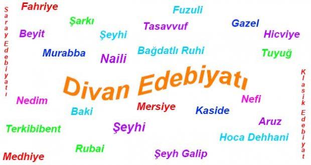 Divan edebiyatı, Divan şiiri, Divan şiiri özellikleri, Divan edebiyatı nazım şekilleri