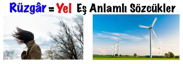 Rüzgar eş anlamlısı, Rüzgarın eş anlamlısı nedir, Rüzgar eş anlamlı kelime