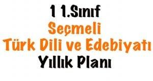 11.Sınıf Seçmeli Türk Dili ve Edebiyatı Yıllık Planı, 11.Sınıf seçmeli Edebiyat planı, 11.Sınıf seçmeli Edebiyat ders planı