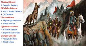 İslamiyet Öncesi Türk Destanları , İslamiyet Öncesi Türk Destanları nelerdir, İslamiyet öncesi destanlar