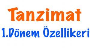 Tanzimat 1.dönem özellikleri, 1.dönem Tanzimat özellikleri, 1.tanzimat edebiyatının özellikleri, Tanzimat 1.dönemin özellikleri