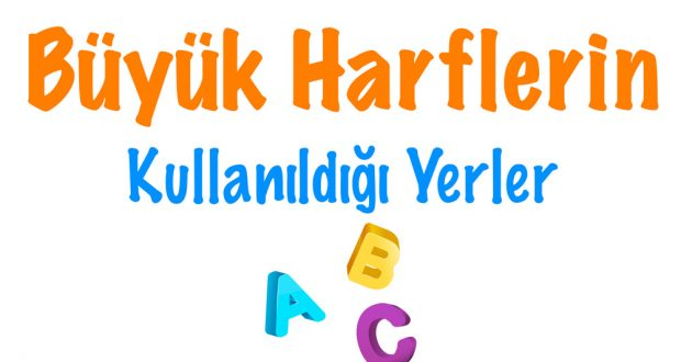 Büyük harflerin kullanıldığı yerler, Büyük harfler ne zaman kullanılır, Büyük harflerin kullanılması