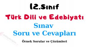 12 edebiyat yazılı soruları, 12 edebiyat sınav soruları, 12.sınıf edebiyat yazılı soruları, 12.sınıf edebiyat sınav soruları, 12.sınıf türk dili ve edebiyatı sınav soruları, 12.sınıf türk dili ve edebiyatı yazılı soruları
